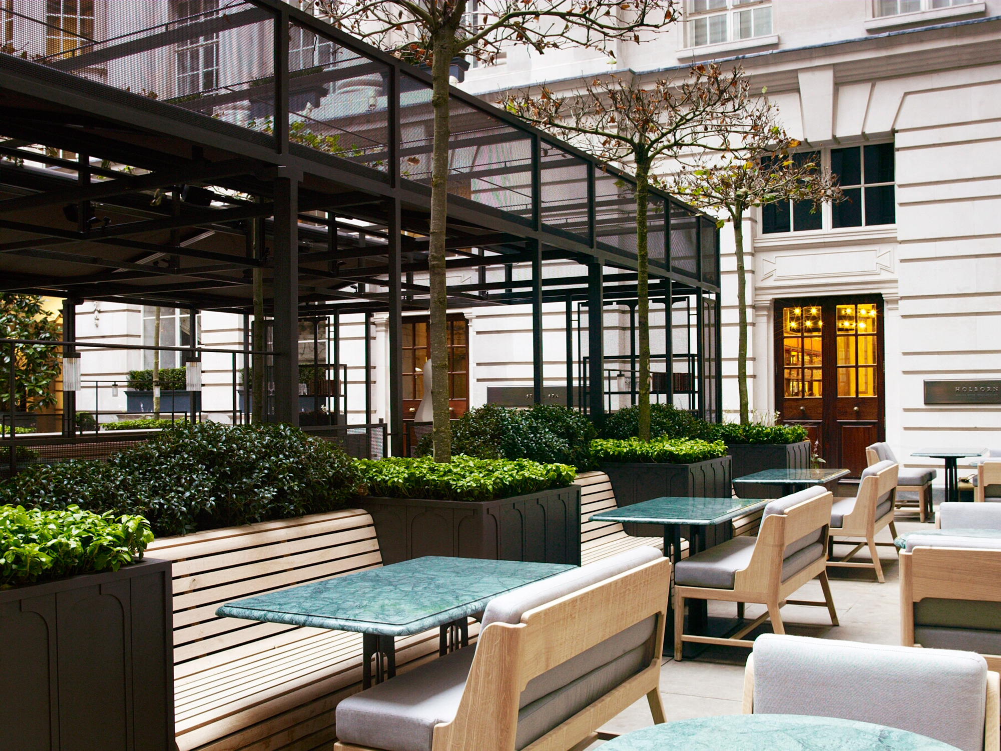 Luciano giubbilei rosewood london for At the terrace
